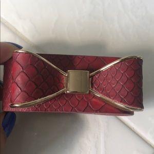 Leather Bow Cuff bracelet
